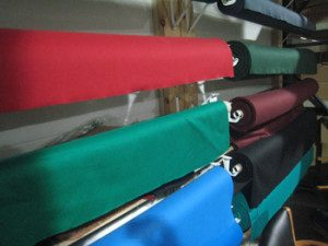 Felts used for pool table recovering