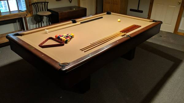 Used 8 Brunswick Pool Table At Everything Billiards Greensboro >> Solo Raleigh 8 Amf Playmaster Slate Pool Table 31